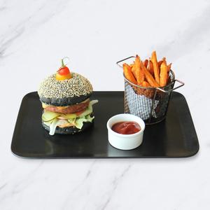 Drivu  Vegan Charcoal Burger