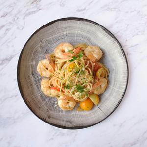 Drivu Shrimp and Spaghetti