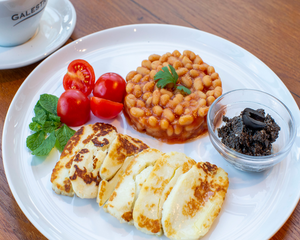 Drivu Halloumi Baked with Baked Beans