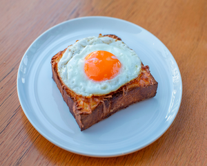 Drivu Cheese Brioche with Fried Egg
