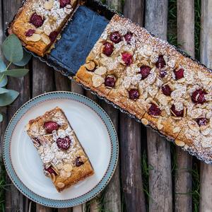 Drivu Raspberry & Almond Tartine Slice