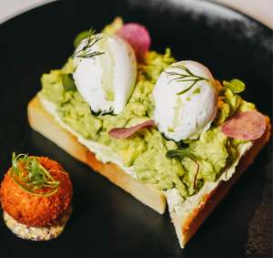 Drivu Avocado Toast with 2 Poached Egg