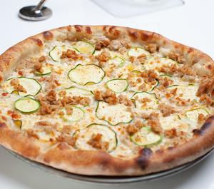 Drivu Zucchini & Sausage Pizza