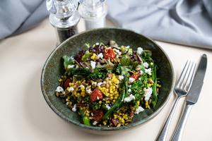 Drivu Saffron Pearl Couscous & Chargrilled Broccolini Salad
