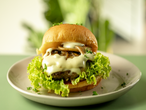Drivu Beef & Mushroom Melt Burger