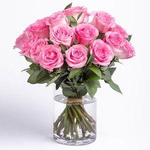 Drivu 20 Pink Roses Vase