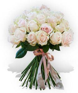Drivu 25 Stem White Rose Bouquet