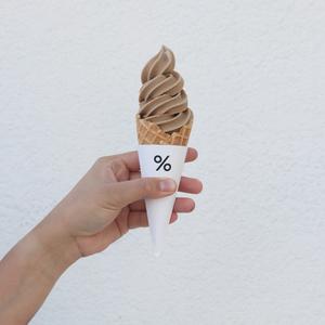 Drivu % Arabica Ice Cream 4oz (Cone)