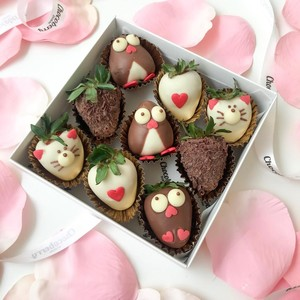 Drivu Penguin & Kitty Strawberries (9 pieces)