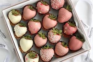 Drivu Pink Gradient Strawberries (16 pieces)