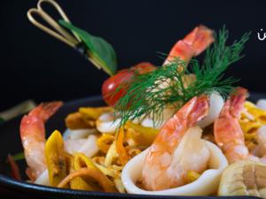 Drivu Pasta with Seafood & Mix Sauce