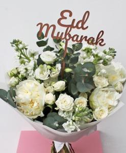 Drivu White Peony Eid bouquet
