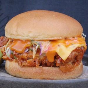 Drivu Honey Sriracha Chicken Burger