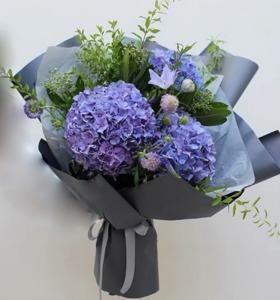 Drivu Blue hydrangea bouquet