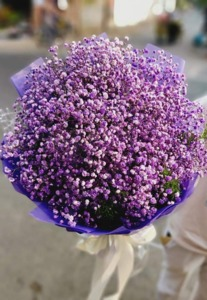 Drivu Purple Baby's-Breath Bouquet