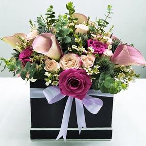 Drivu Black box with purple flower