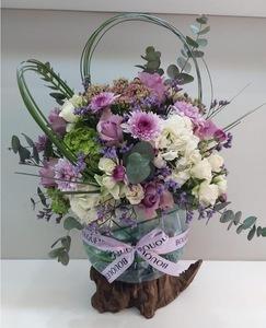 Drivu Flowers in Bali wood Vase