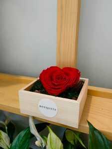 Drivu Heart Shape Infinity Red Rose