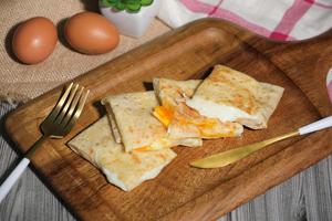Drivu Roti with Eggs & Cream Cheese