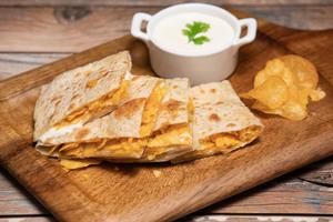 Drivu Roti with Cream Cheese & Chips Oman