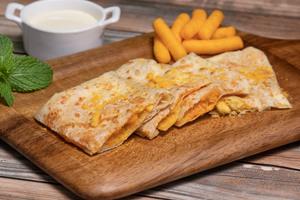 Drivu Roti with Cream Cheese & Cheetos