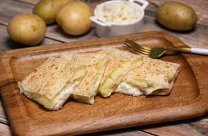 Drivu Roti with Potato, Mozzarella & Butter