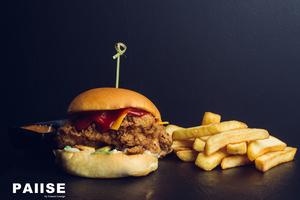 Drivu Breaded Chicken Burger.