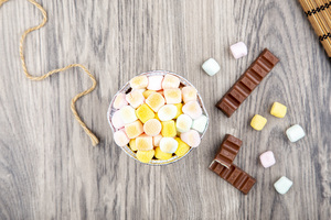 Drivu كندر كيك مع المارشملو Kinder Cake with Marshmallow