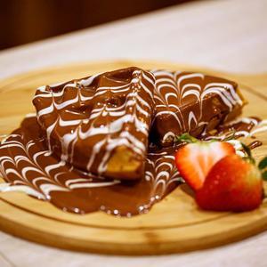 Drivu وافلز مكس جوكلت مع فراولة Waffle Mix Chocolate with Strawberry