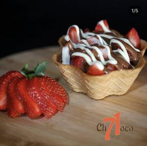 Drivu كوب البسكويت فراولة نوتيلا Biscuit Cup Strawberry Nutella