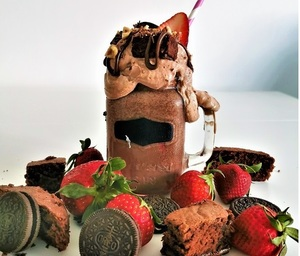 Drivu Oreo Strawberry Nutella Shake شيك النوتيلا و الفاريلة و الأوريو