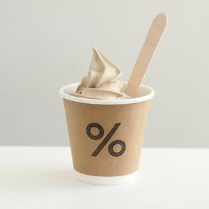 Drivu % Arabica Ice Cream 8oz (cup)