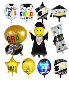 Drivu Graduation Balloons (Foil & 10 pieces rubber)