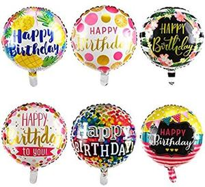 Drivu Happy Birthday Balloons (Foil & 10 pieces rubber)