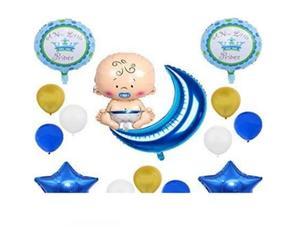 Drivu Baby Boy Balloons (Foil & 10 pieces rubber)