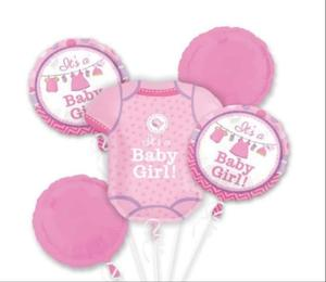 Drivu Baby Girl Balloons (Foil & 10 pieces rubbber)