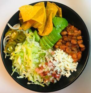 Drivu Taco bowl half avocado