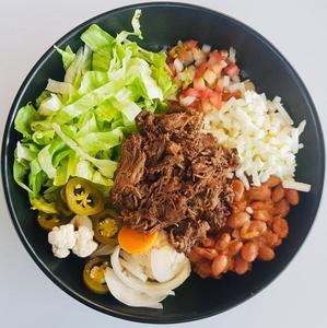 Drivu Taco bowl barbacoa