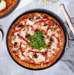 Drivu Keto Mushroom Bell Pepper Pizza