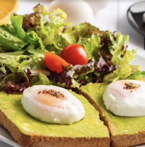 Drivu Egg Avocado Toast Sandwich