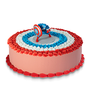 Drivu Captain America (Character Cake)