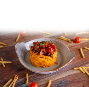 Drivu French Fries with BBQ Chicken & Cheese