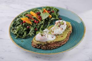Drivu Poached Eggs and Avocado (V)