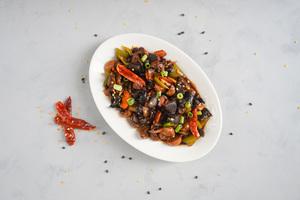 Drivu Wok Charred Mushrooms in Black Bean Sauce