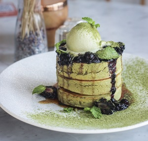 Drivu Matcha Pancakes