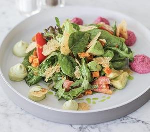 Drivu Hummus Pumpkin Salad