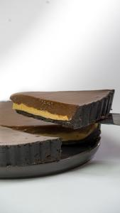 Drivu Spicy Chocolate & Peanut Butter Tart-Slice
