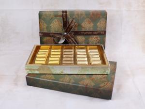 Drivu 600g Victorian Single Layer Box, Green Color, Mix Chocolate