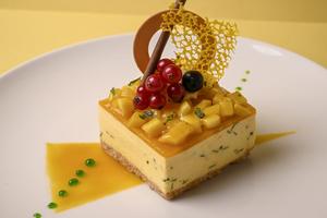Drivu Mango Coriander Cheesecake