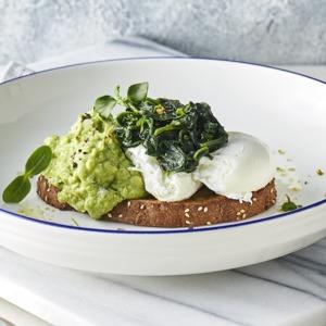 Drivu Eggs with Spinach & Avocado Smash